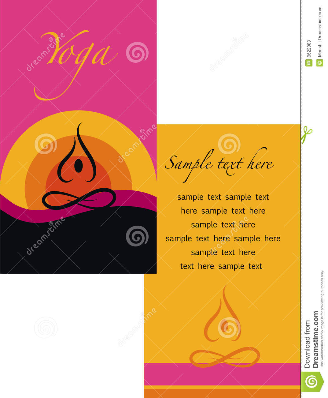 Template of yoga brochure stock vector image of corporate for Yoga brochure templates