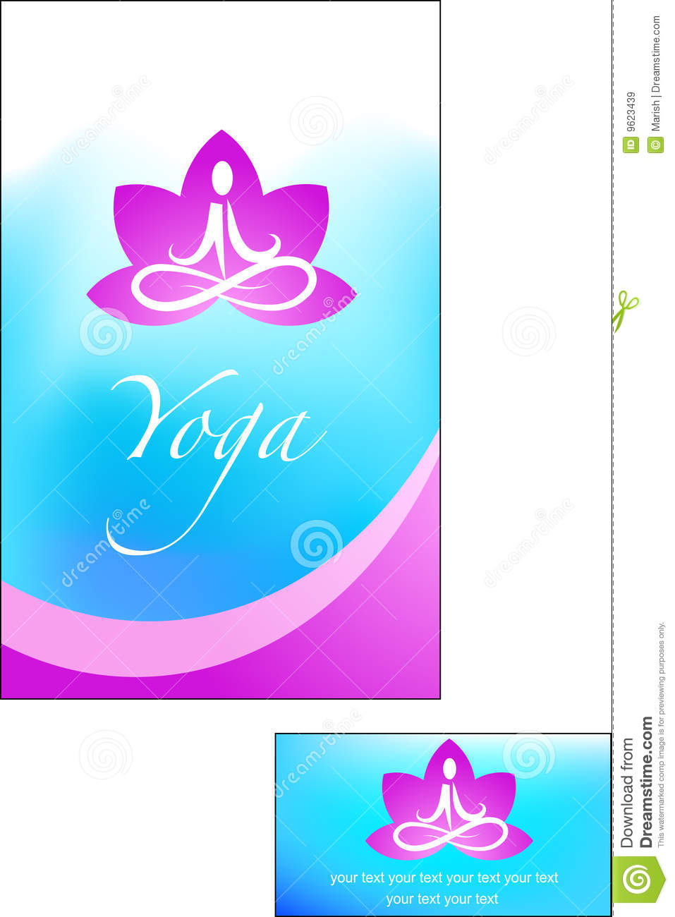 template of yoga brochure stock vector  illustration of fiesta