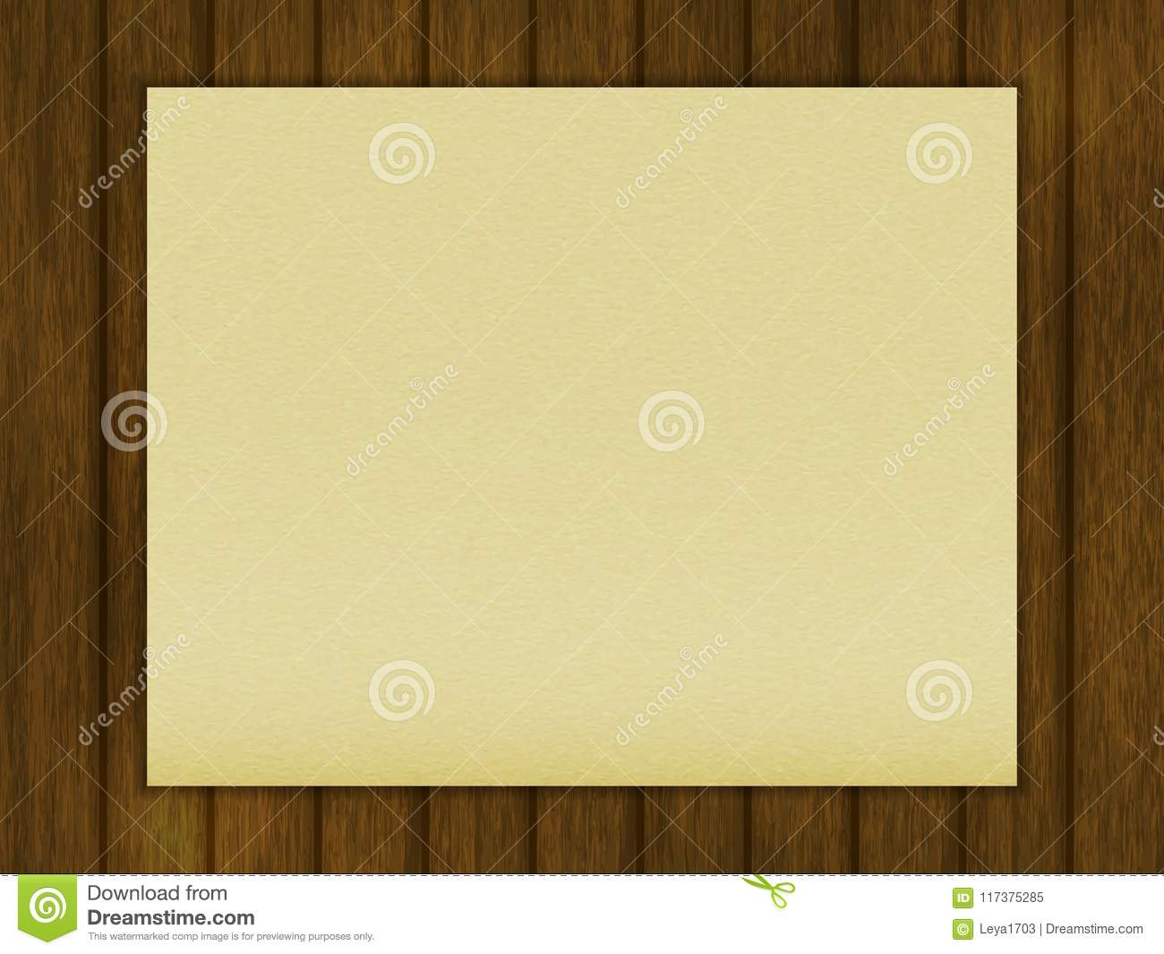 Blank Table Template | Template For Your Design A Blank Sheet Of Paper On A Wooden Table