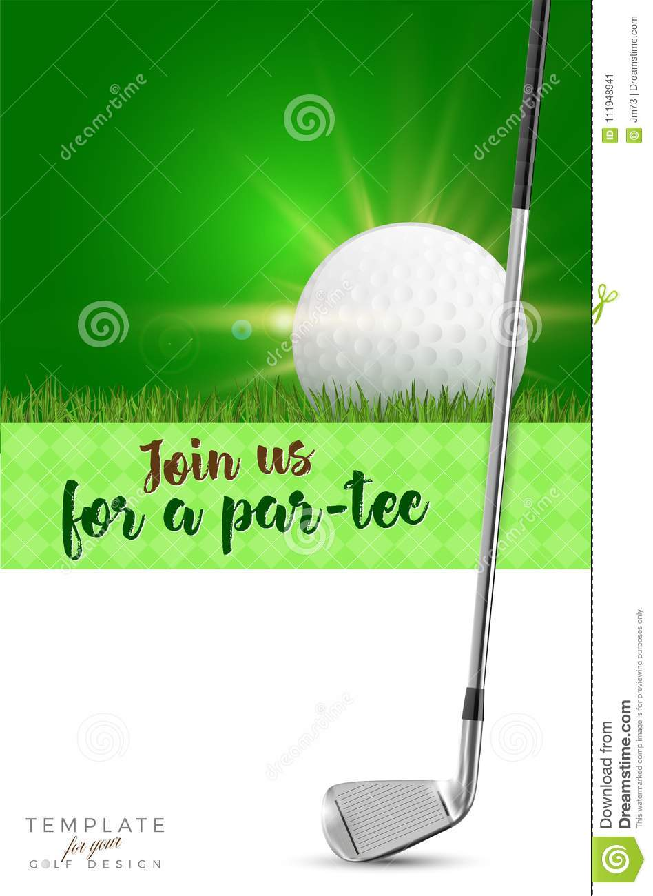 Template for your golf design with copy space