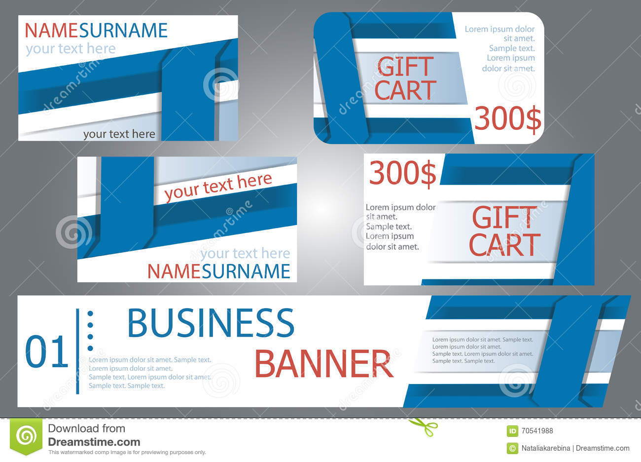 Templates banner design gift cards business cards set stock download comp colourmoves