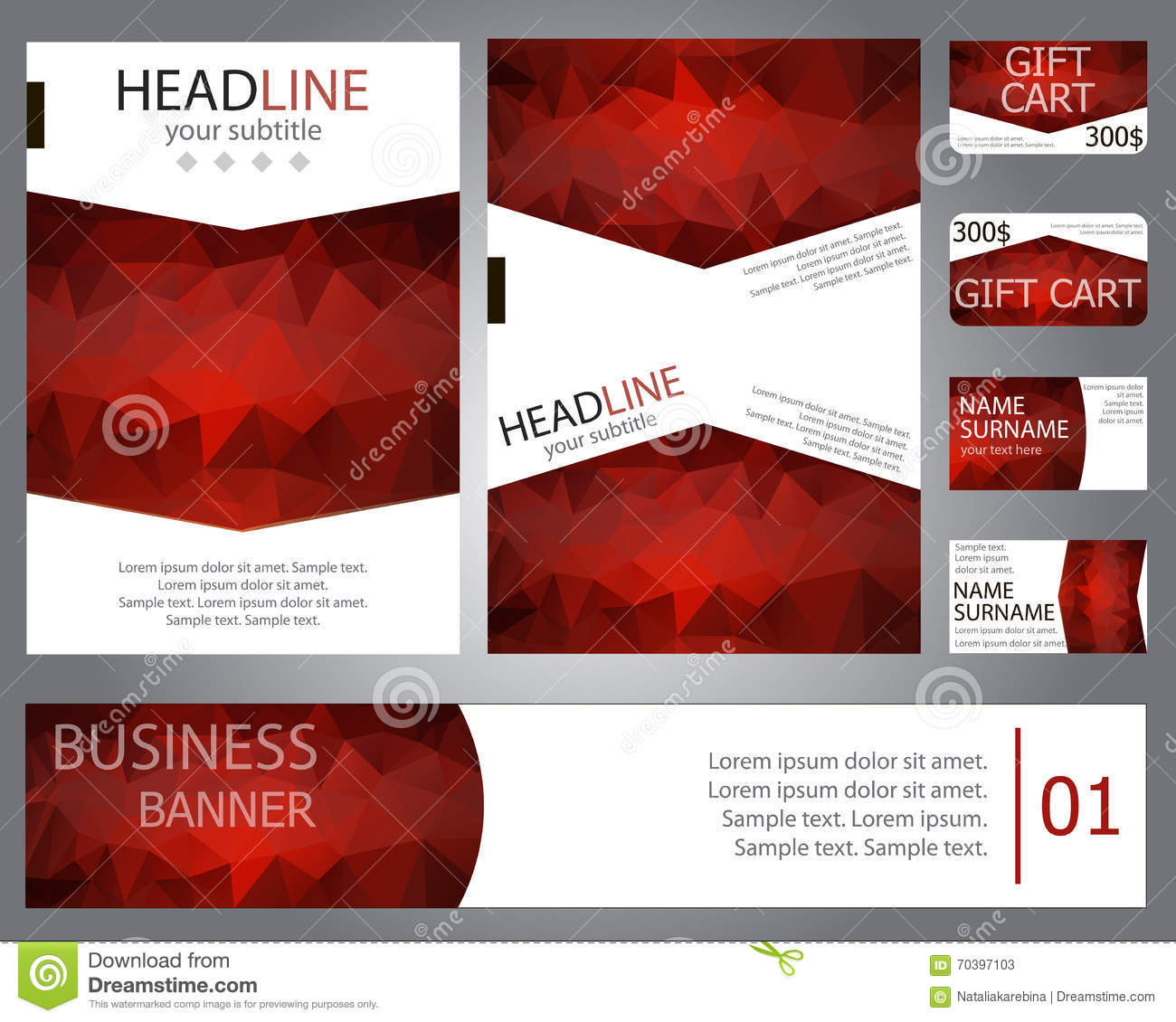 Templates Brochure Design, Banner, Gift Cards, Business Cards. Stock ...