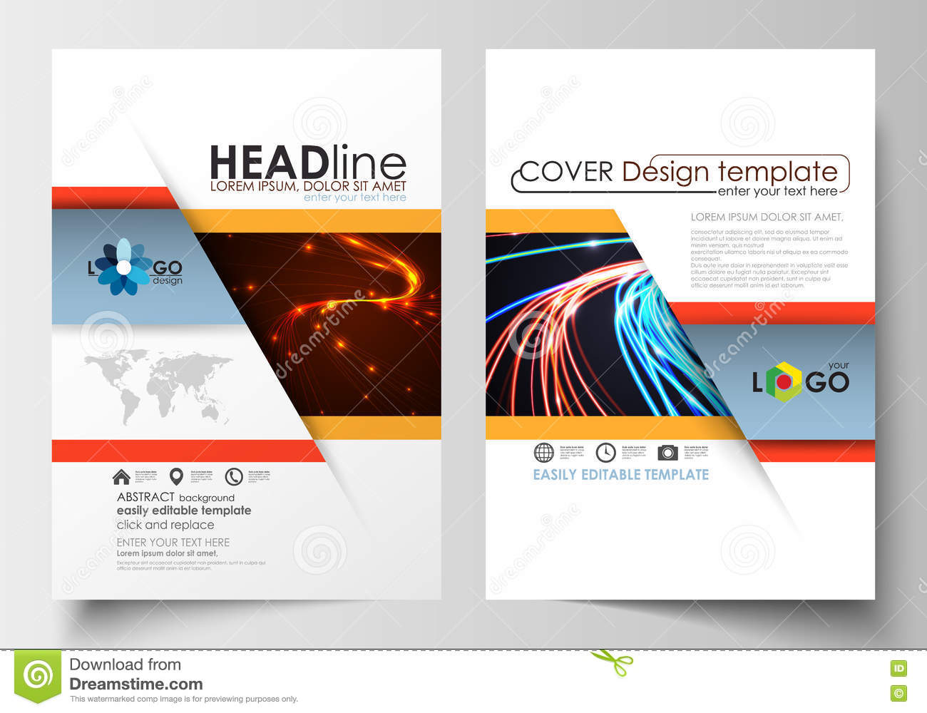 Templates For Brochure, Magazine, Flyer, Booklet Or Report. Cover ...