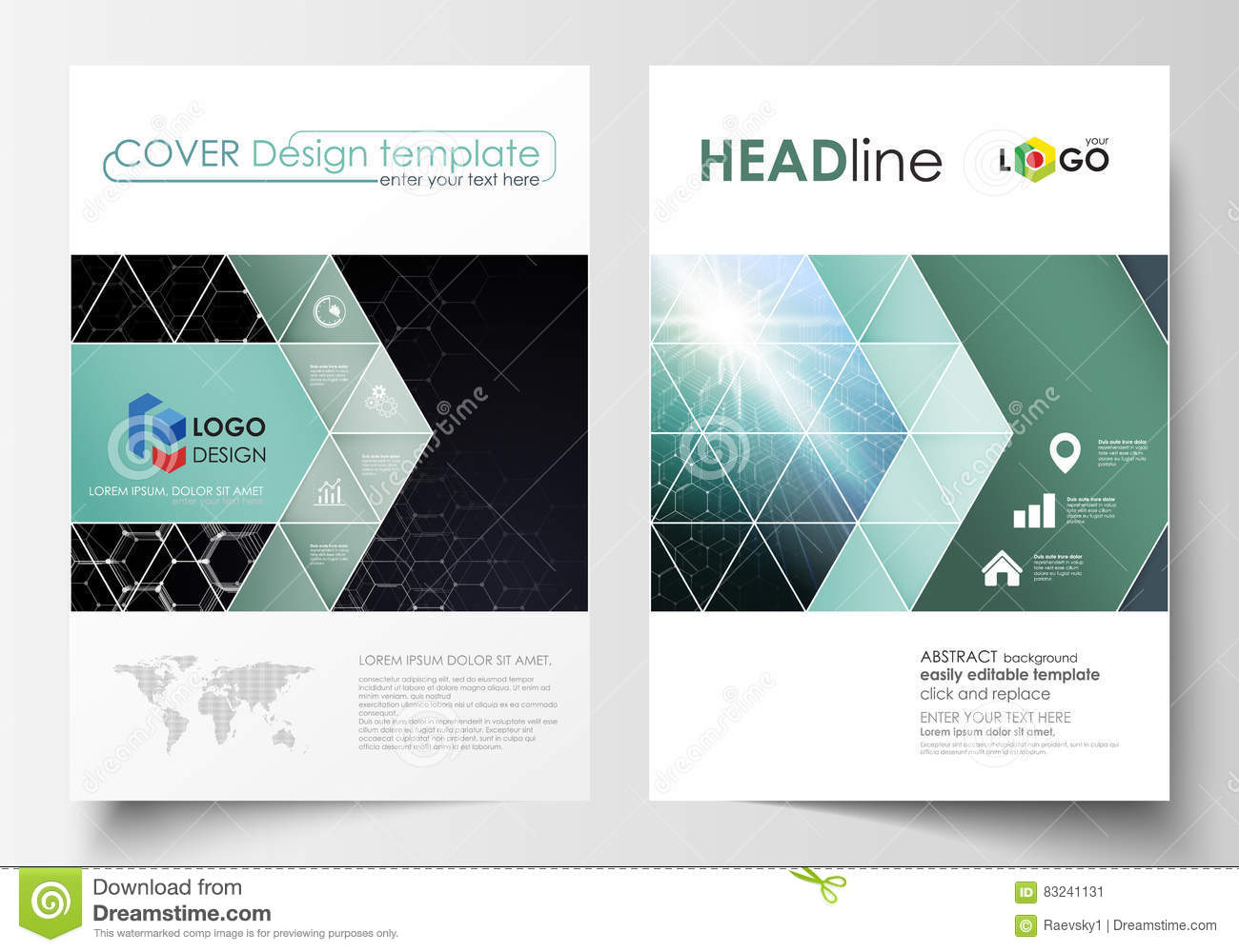 Templates For Brochure, Magazine, Flyer Or Report. Cover Design ...