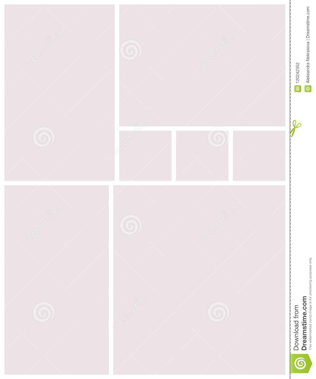 templates collage frames for photo or illustration stock vector