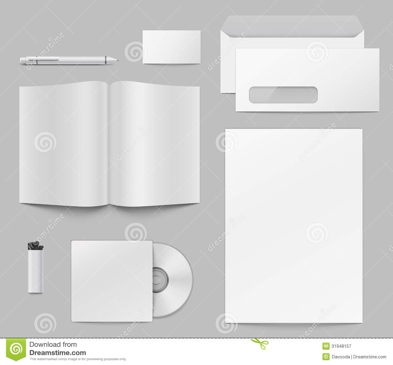 Templates Of Corporate Identity Elements. Stock Vector ...
