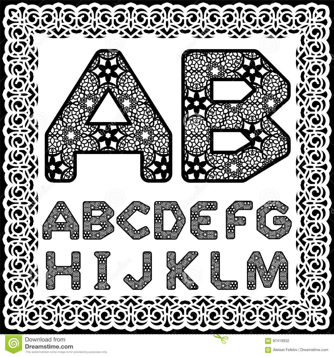 templates for cutting out letters. full english alphabet. may be