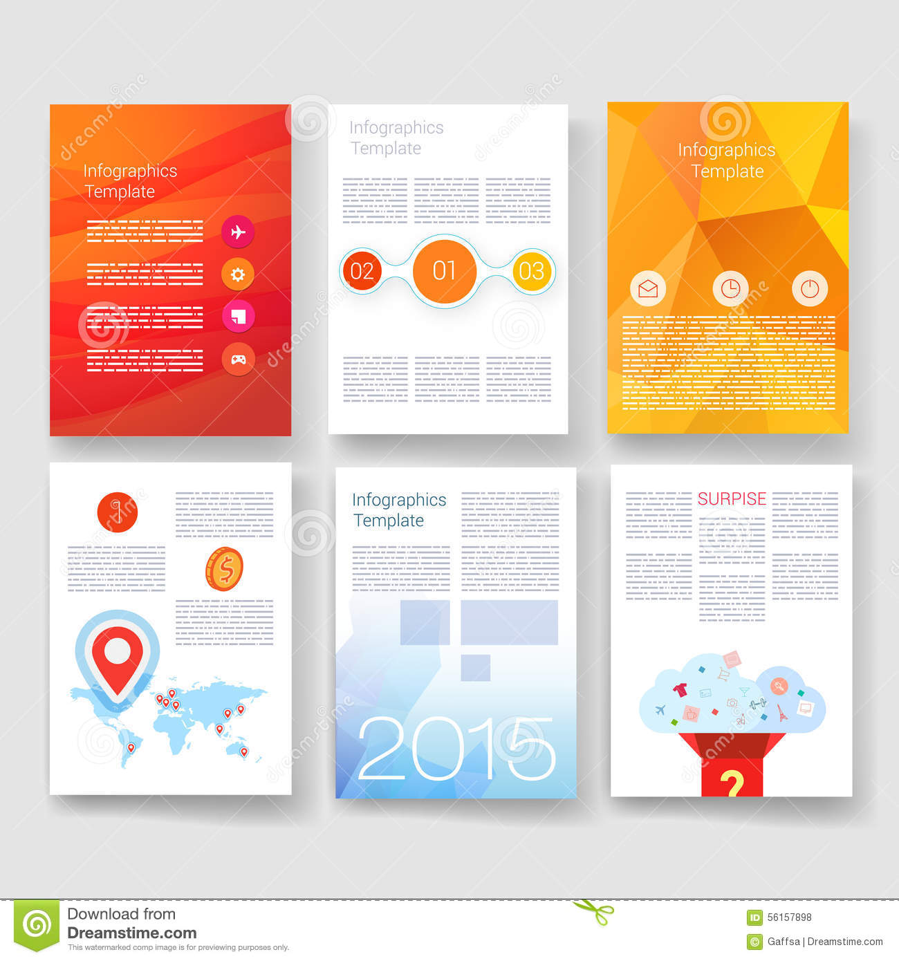 templates design set of web mail brochures futuristic layout