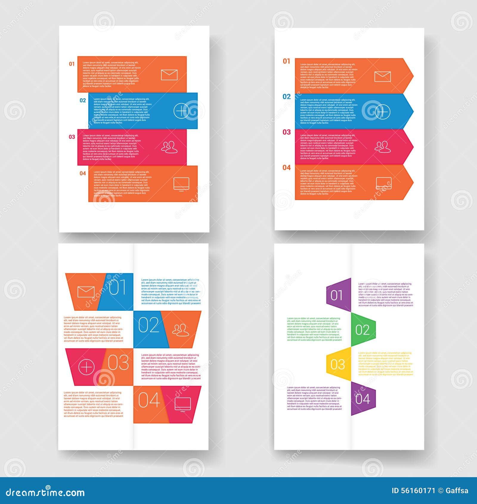 mail designer pro templates - templates design set of web mail brochures stock vector