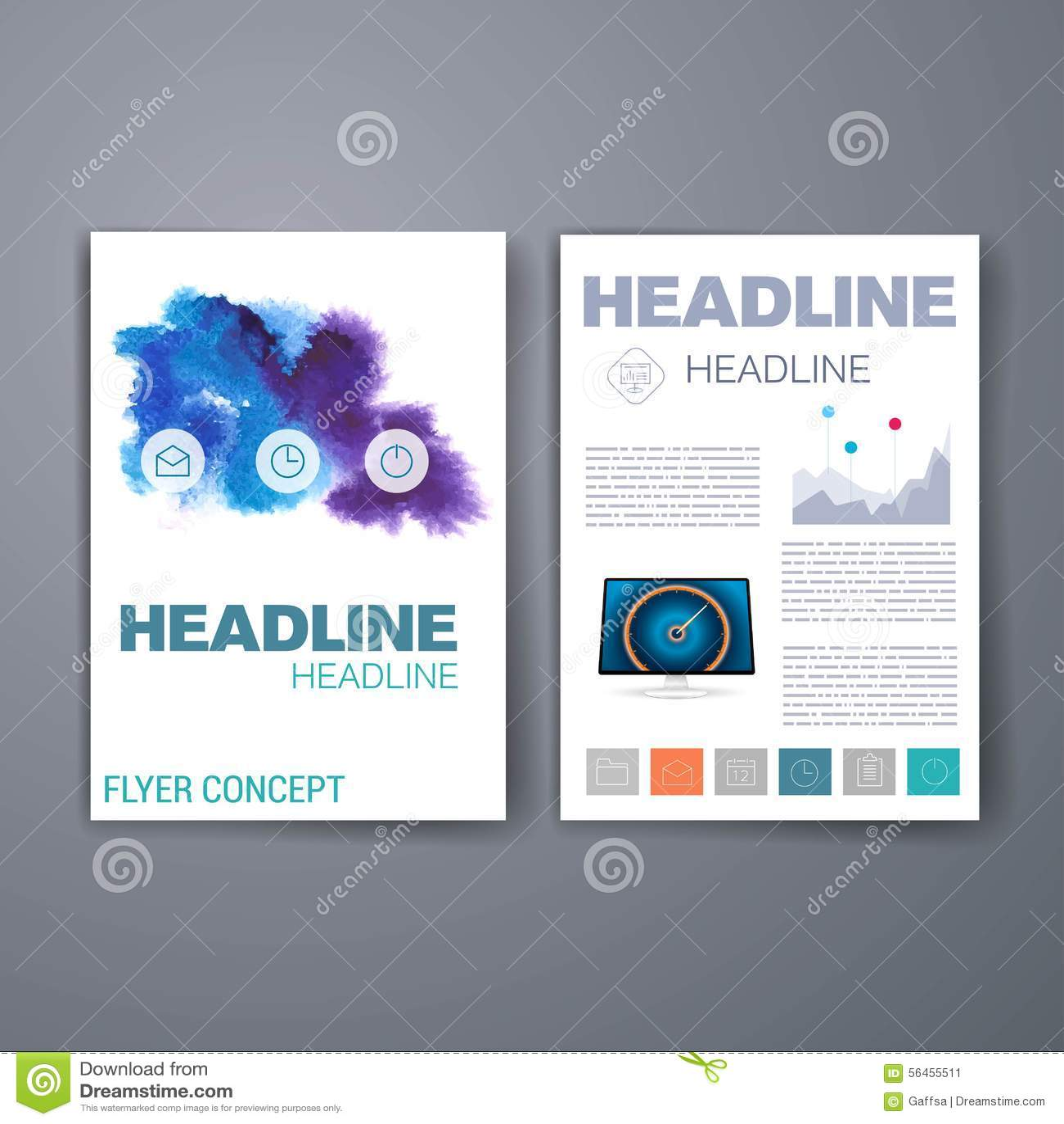 Templates  Design Set Of Web, Mail, Brochures Stock
