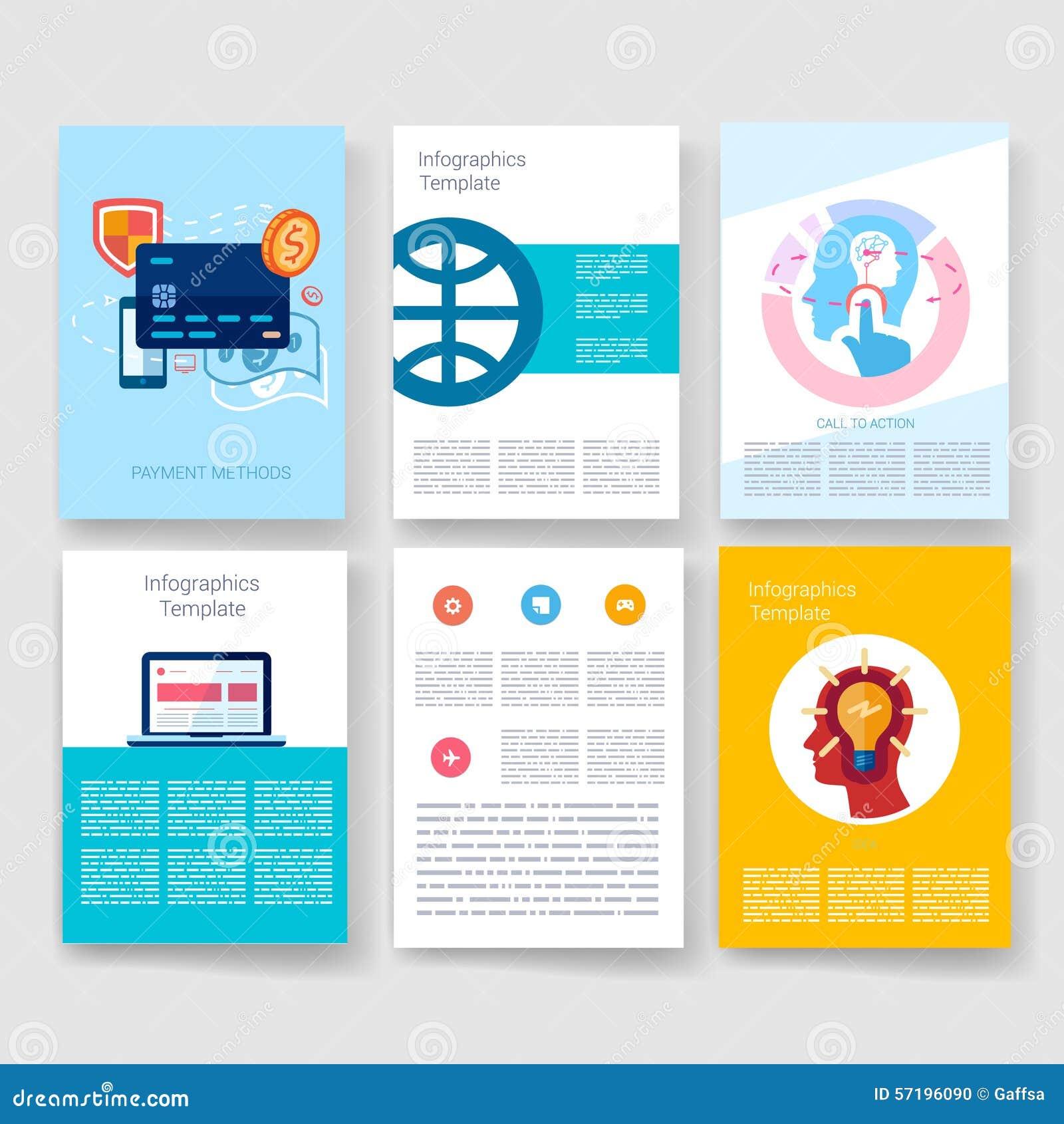Templates Design Set Of Web Mail Brochures Stock Vector