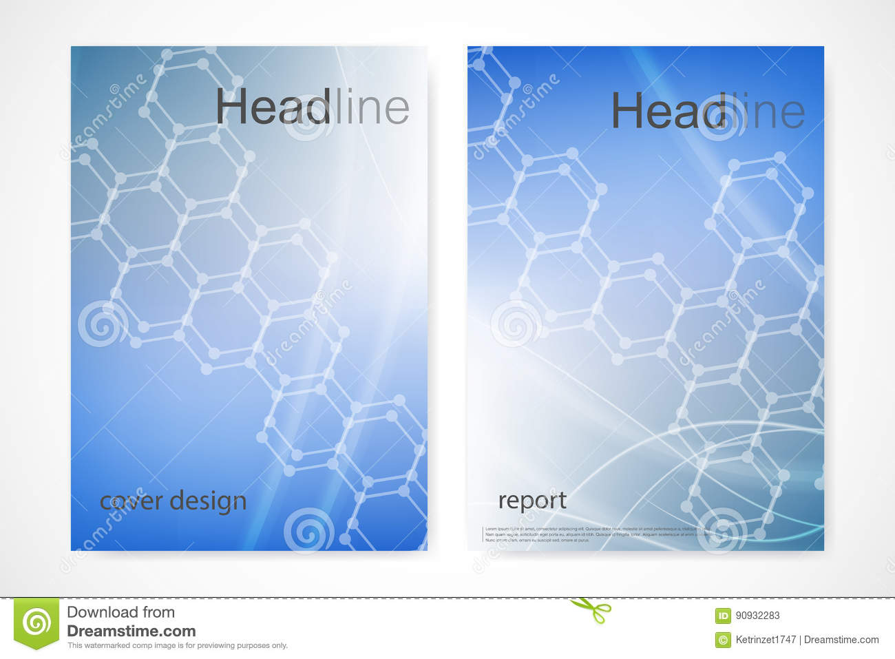 Science Book Cover Design Examples : Templates for square brochure leaflet cover presentation