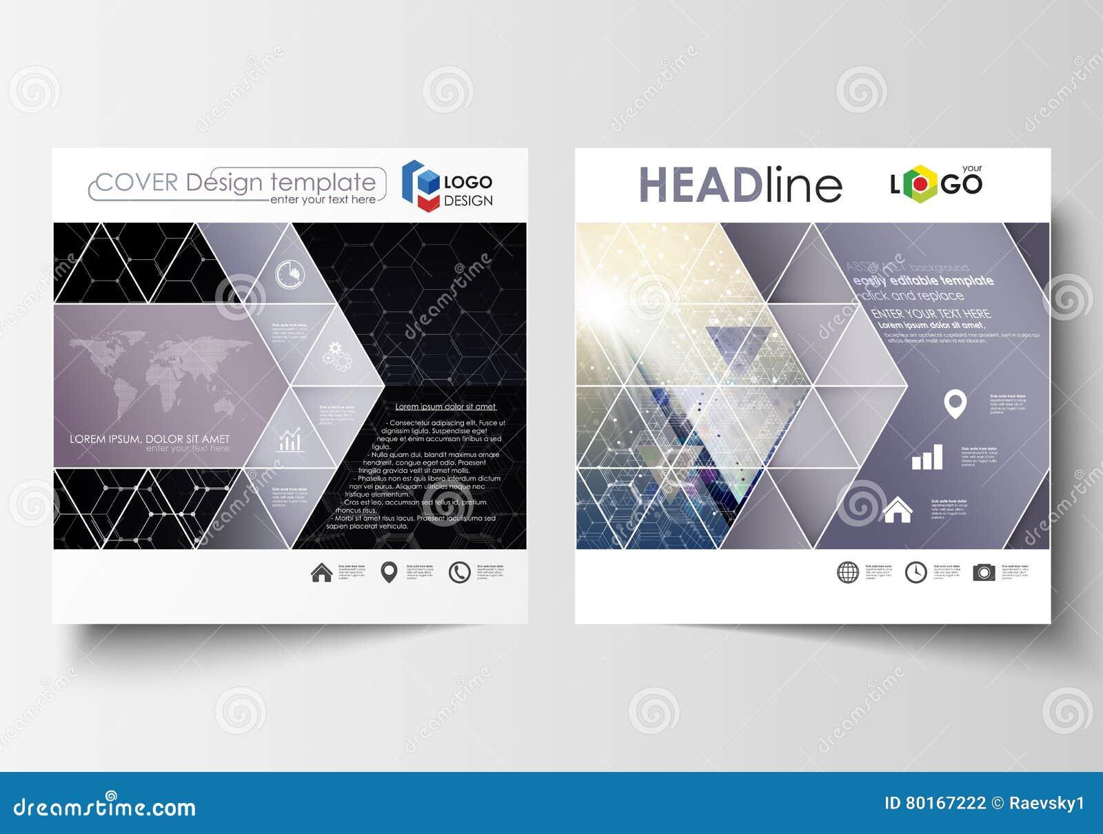 Templates For Square Design Brochure, Magazine, Flyer, Report ...