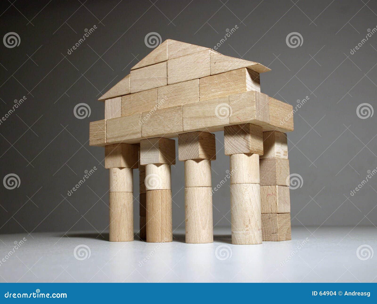 Download Temple antique photo stock. Image du wooden, fléaux, construction - 64904