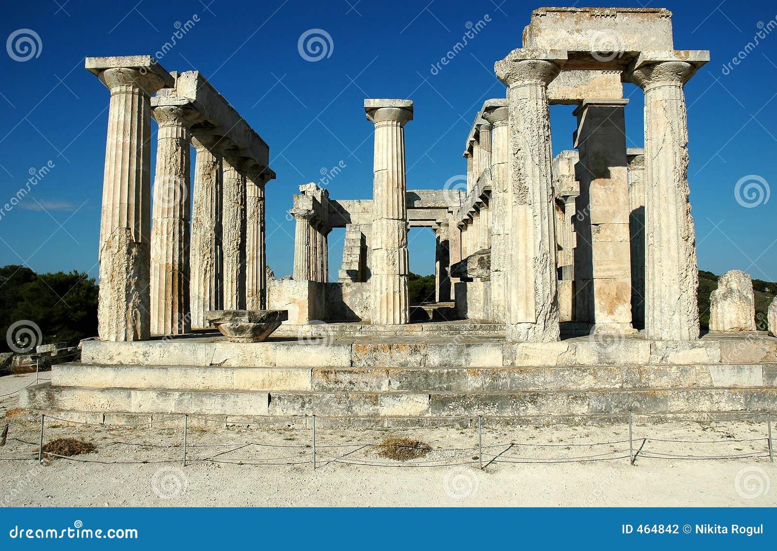 Download Temple Of Aphaea (Britomartis) Stock Photo - Image of aigina, column: 464842