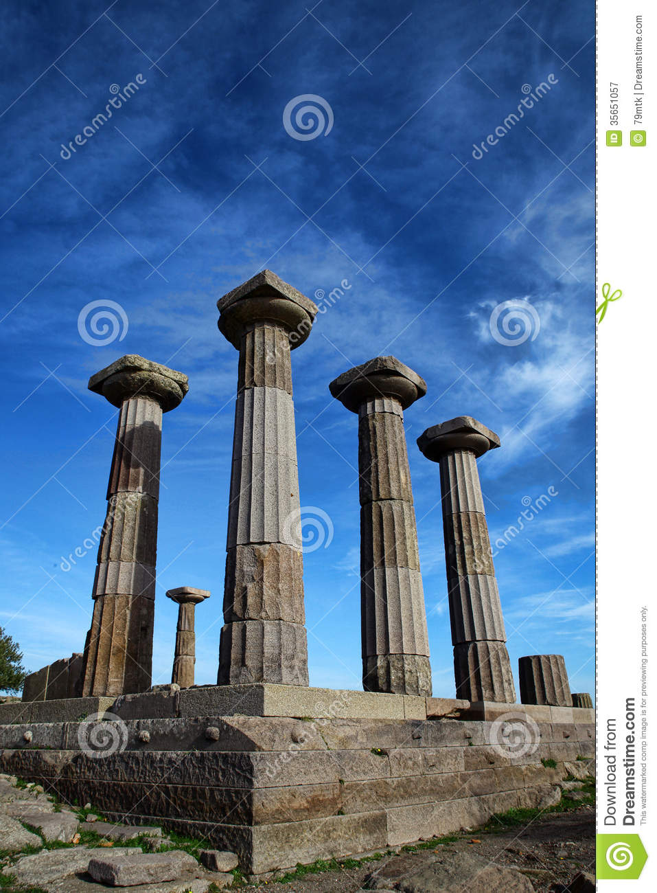 Temple Of Athena In Assos Royalty Free Stock Photography ...