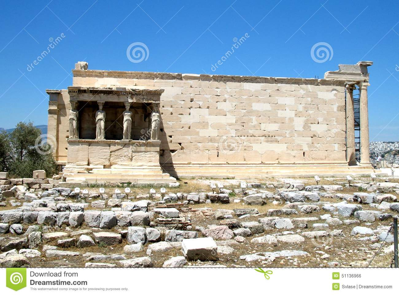 Temple Of Athena Nike, Acropolis Of Athens, Greece Stock ...