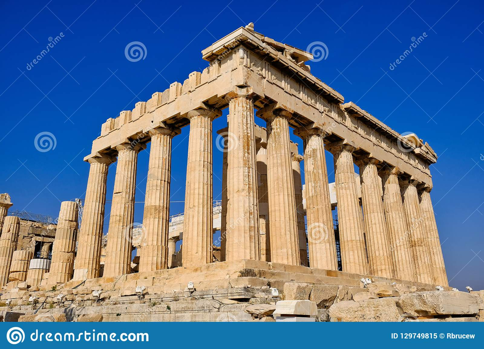 Temple of Athena, The Parthenon, Athens, Greece