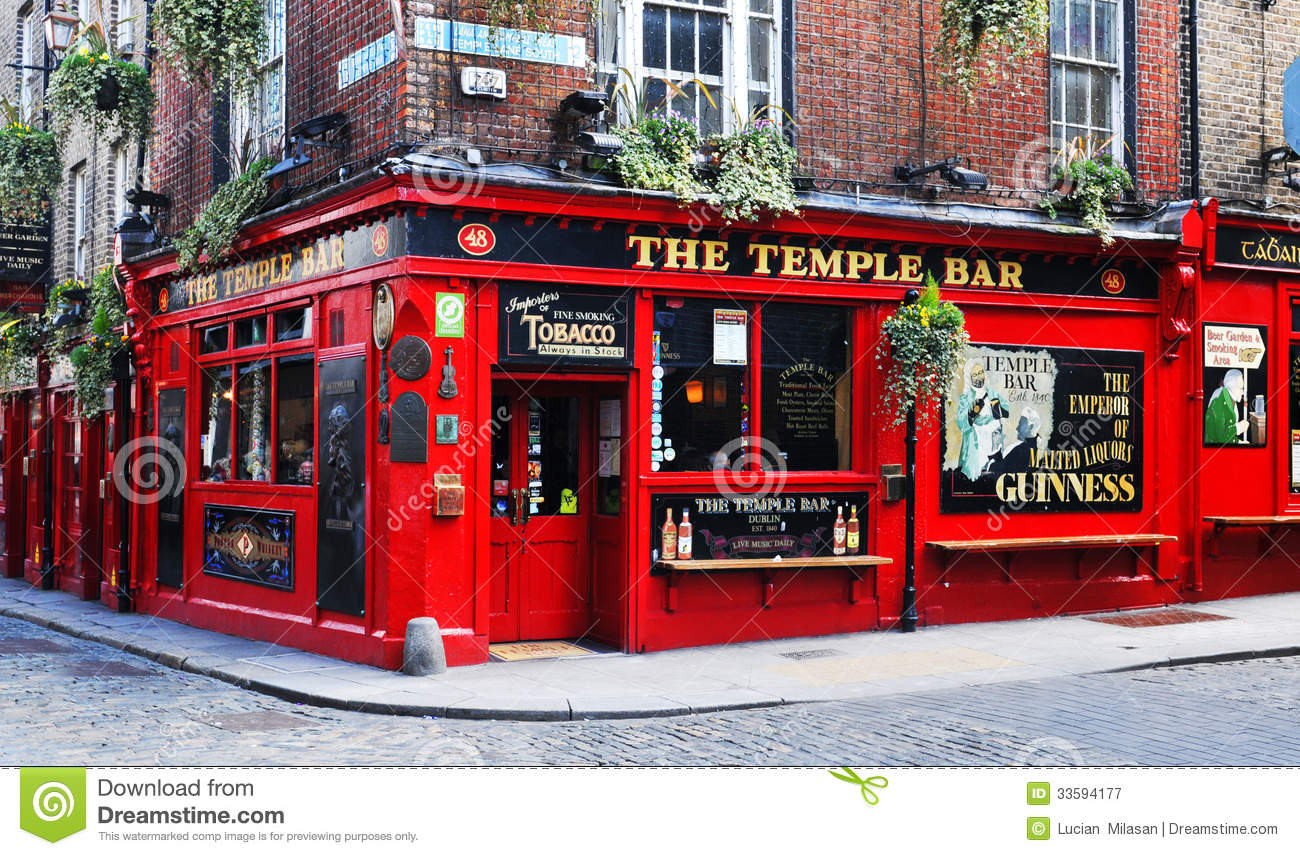 Dublin, Ireland - 30 March, 2013: Temple Bar is a famous landmark in ...