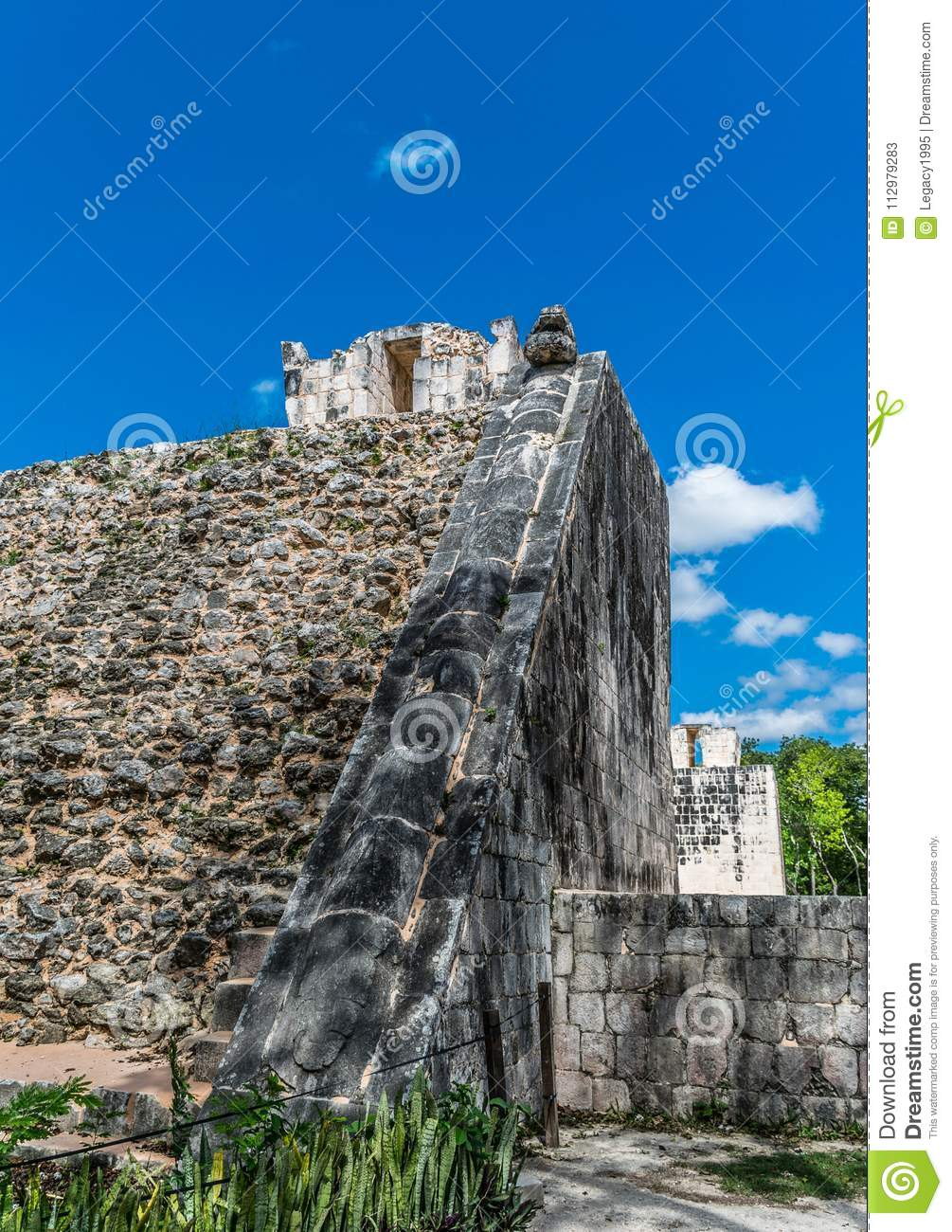 Temple of the Bearded Man in Chichen Itza, Mexico