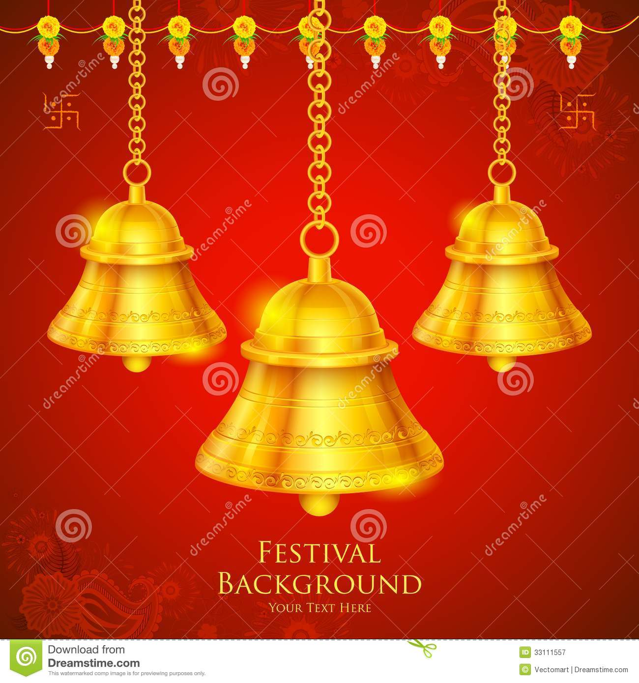 Temple Bell stock vector  Illustration of ceremonial - 33111557