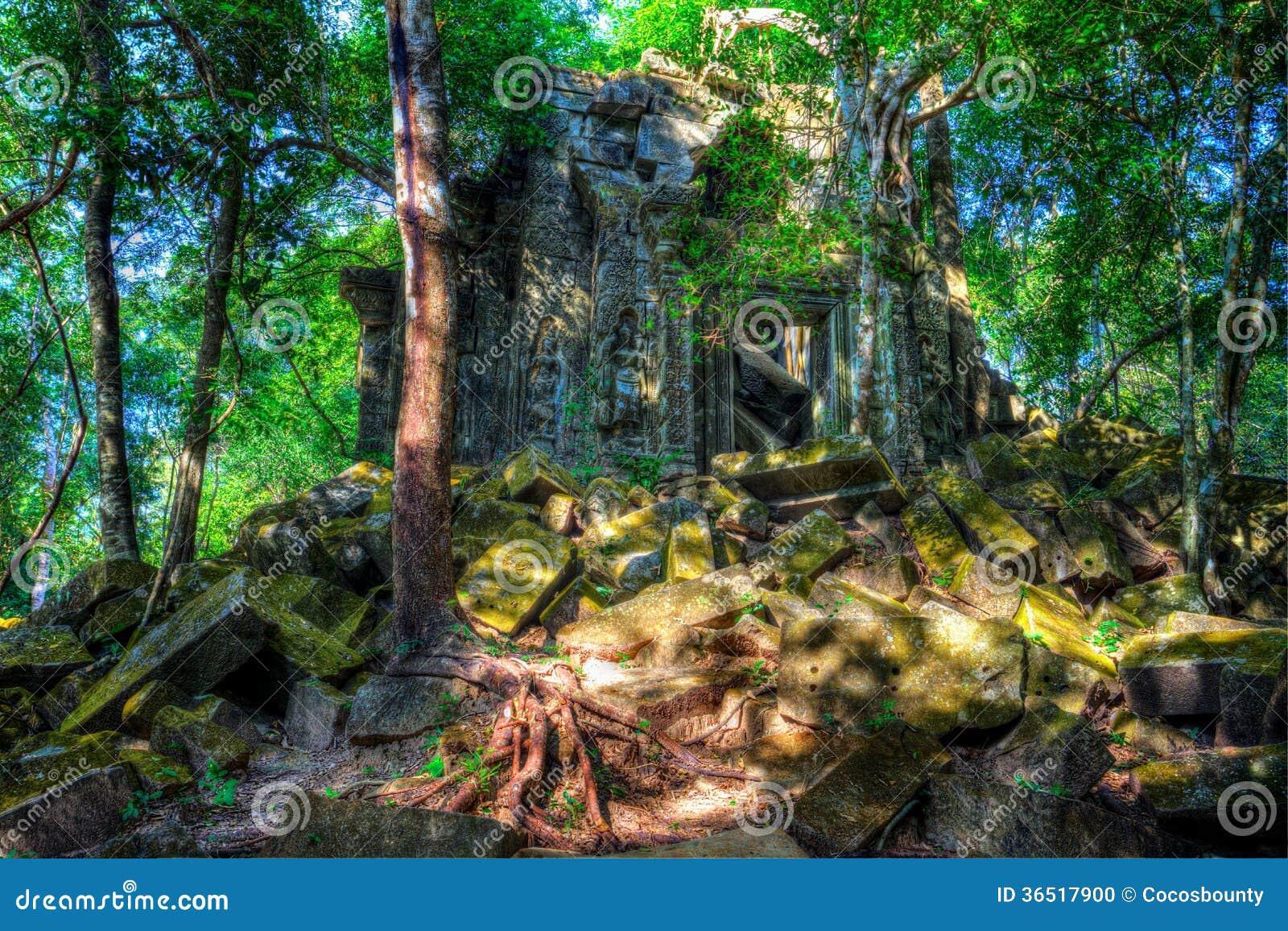 Temple Beng Mealea. Cambodge
