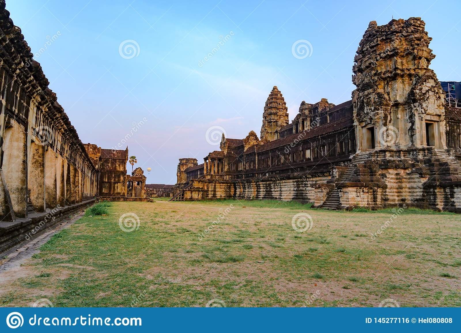 Temple Complex Angkor Wat, Ancient Temple, Siem Reap