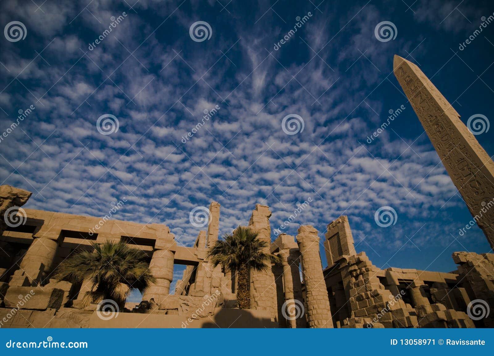 Temple d Amun, temple de Karnak, Egypte.