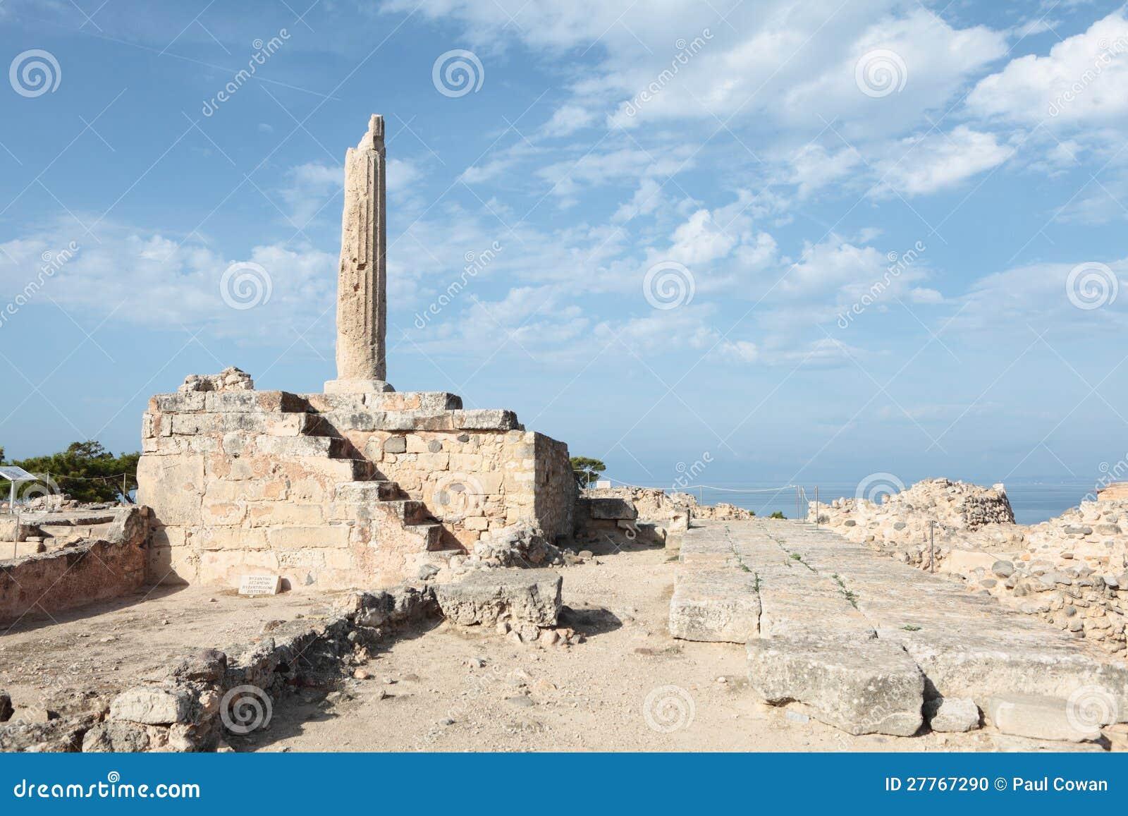 Temple d Apollo sur Aegina