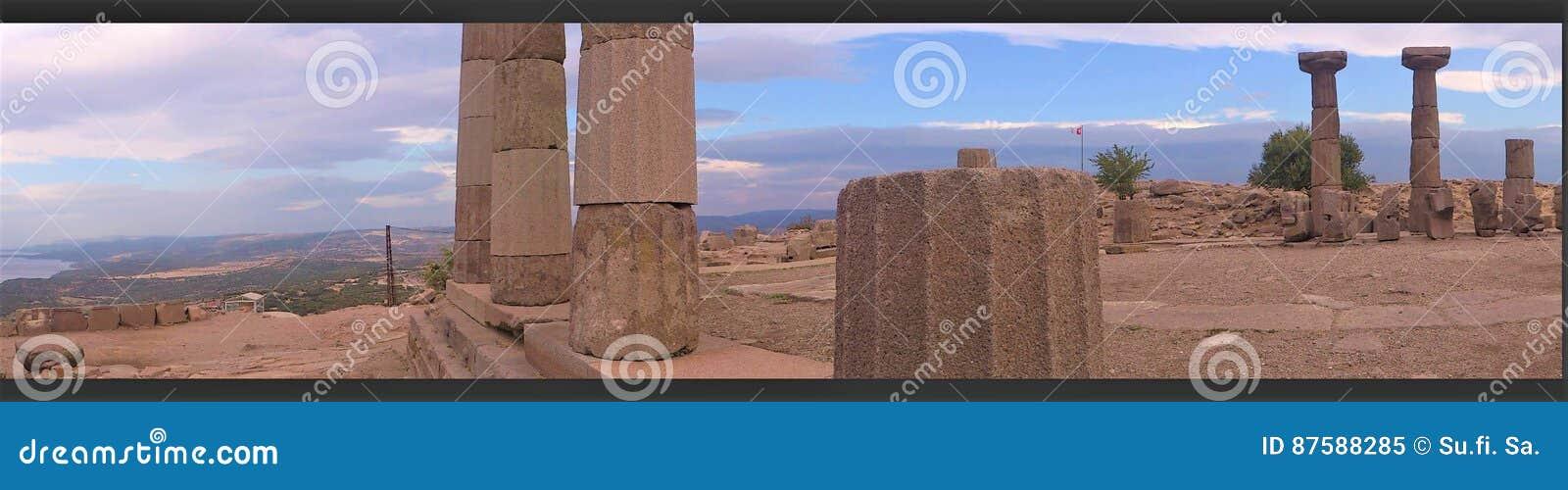 Temple d Athéna dans Assos, vue de panorama