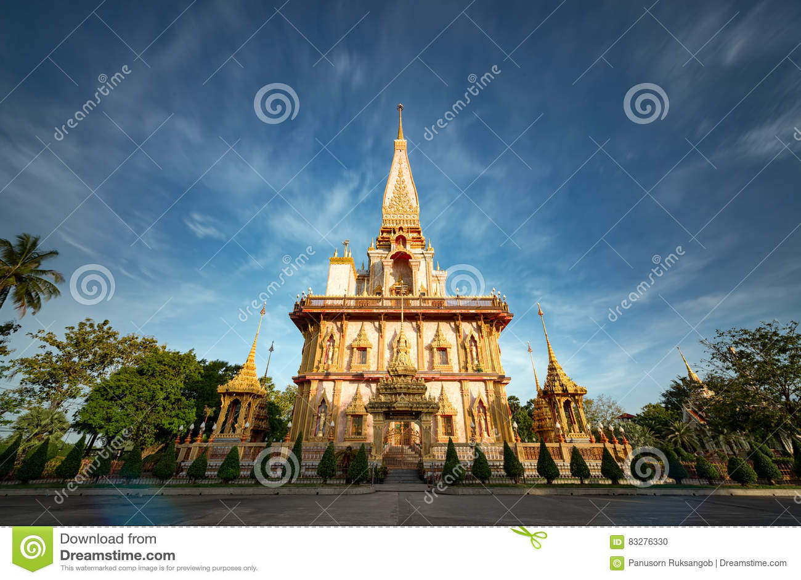 Temple de Chalong à Phuket Thaïlande