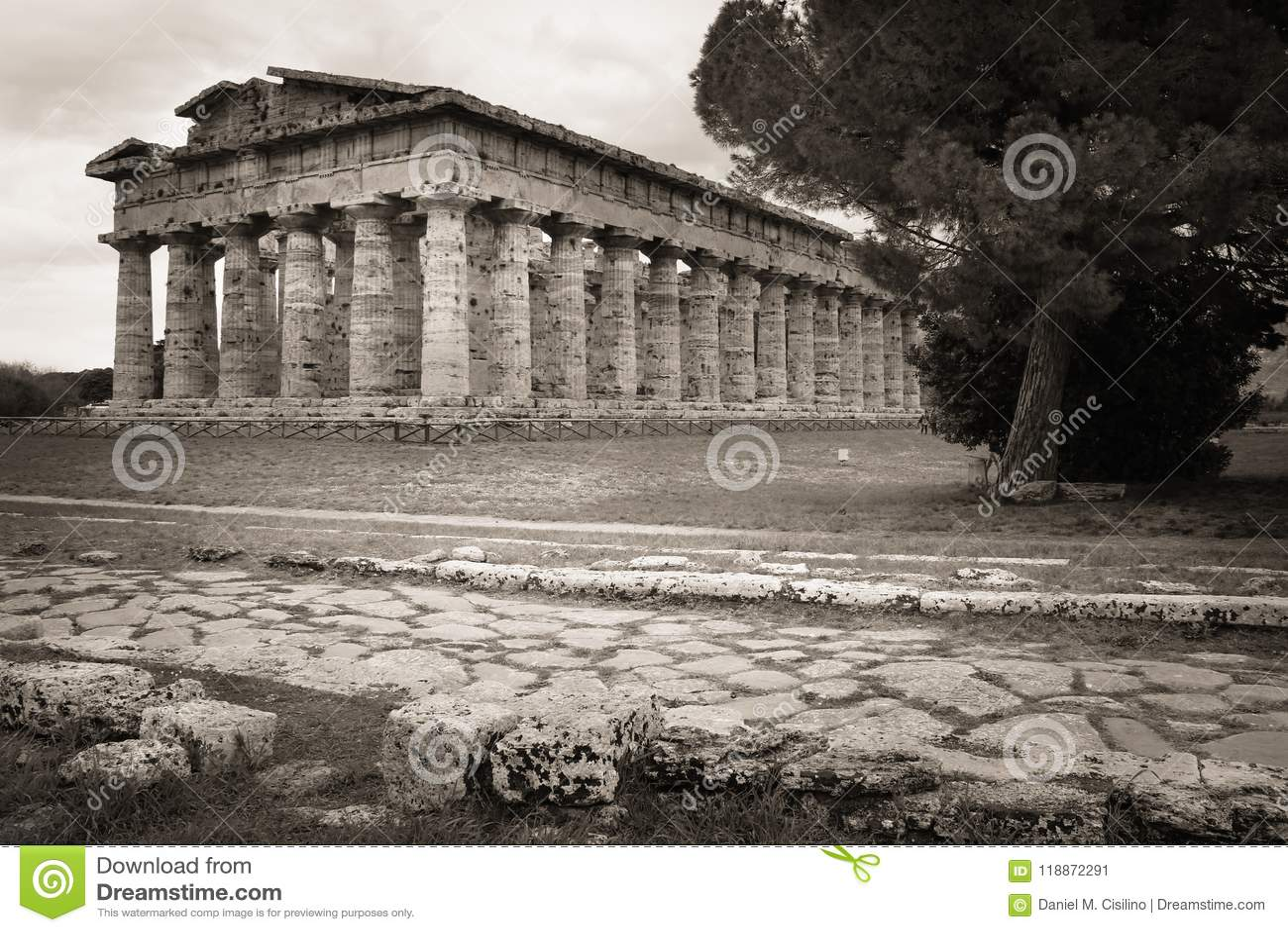Temple de Hera Paestum salerno Campanie l Italie