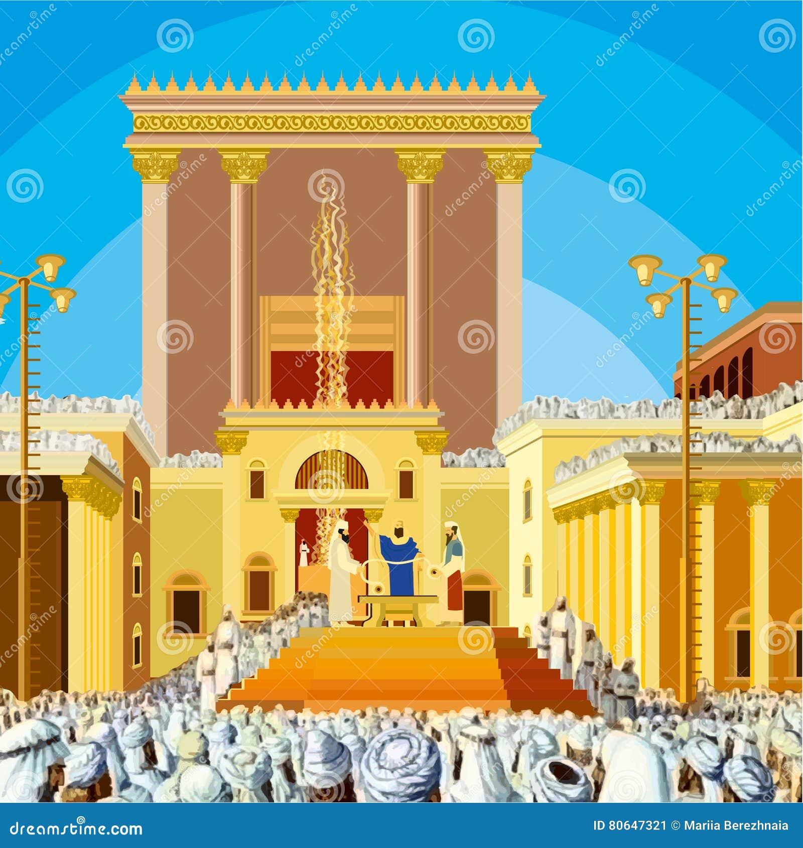 Temple de Jérusalem Une scène de roi juif il y a bien longtemps pendant l ère le deuxième dans Hakhel appelé Le festival Sukkot