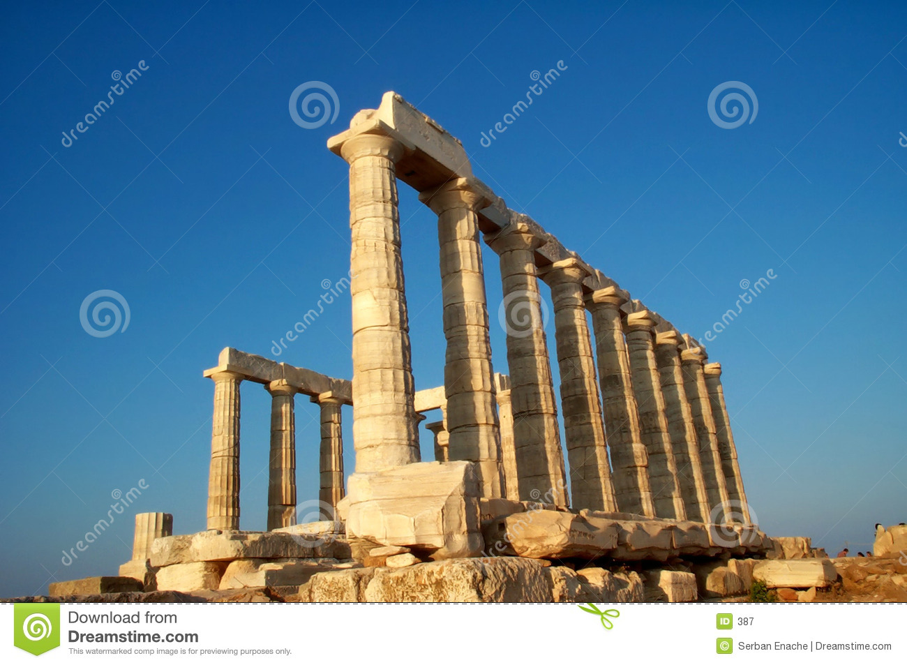 Temple de Sounion de cap