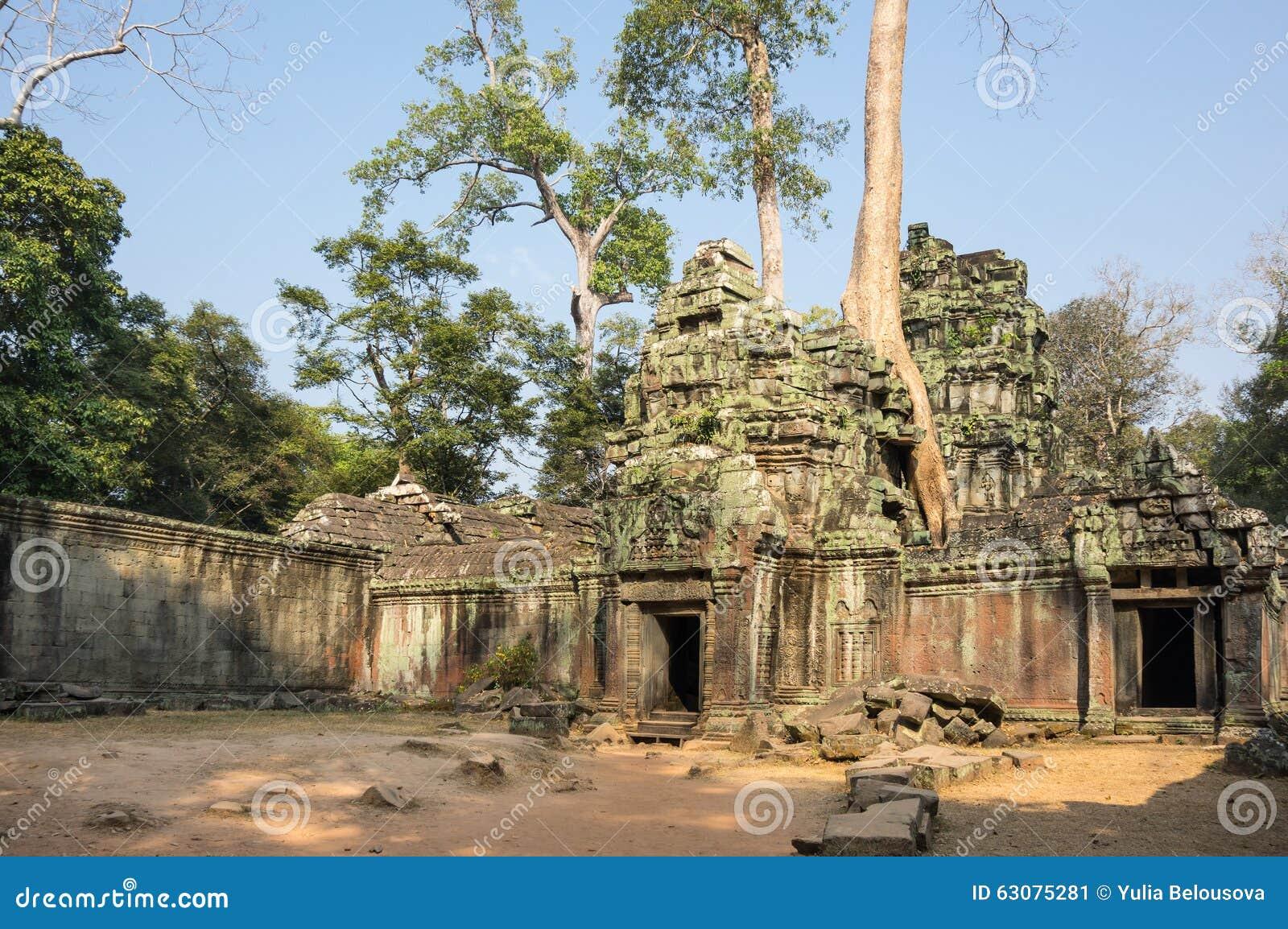 Download Temple de Ta Prohm image stock. Image du ruines, angkor - 63075281