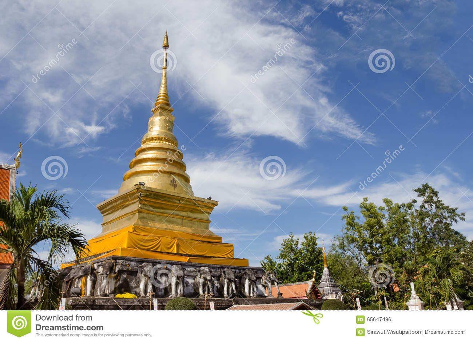 Temple de Wat Pra Tard Chang Kum en Nan Province, Thaïlande