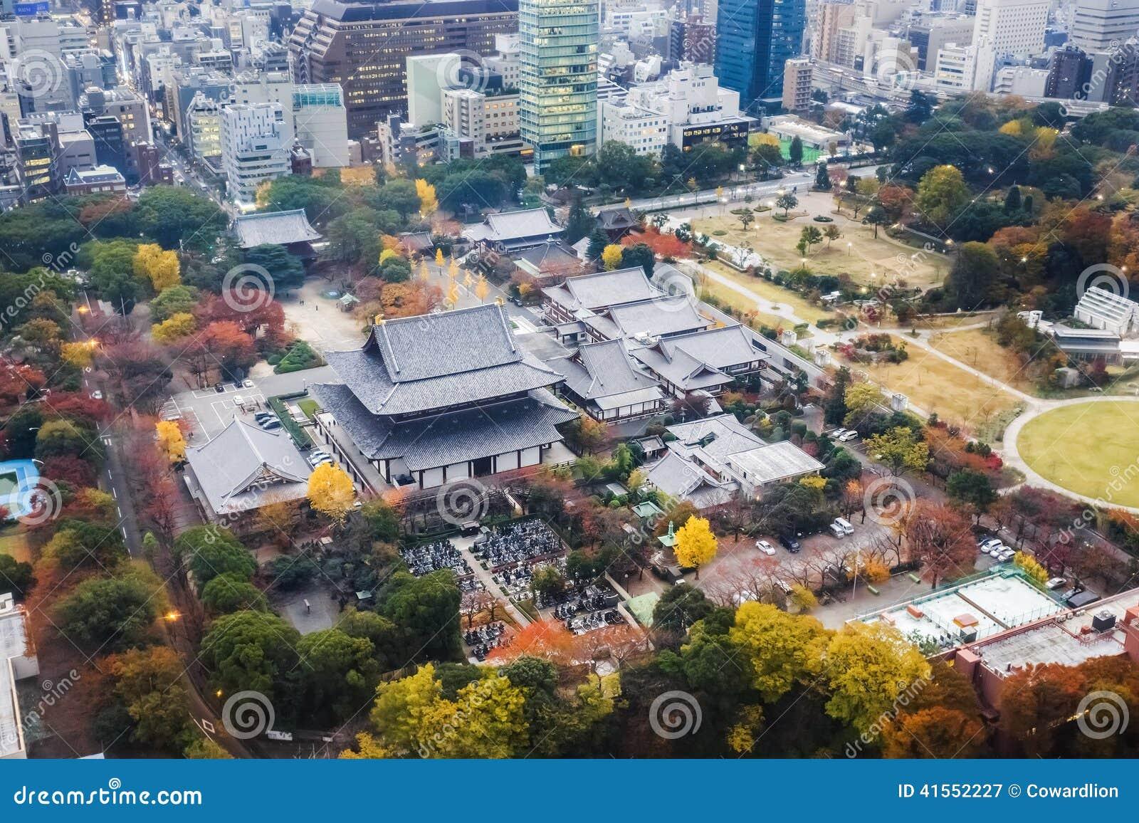 Temple de Zojoji à Tokyo