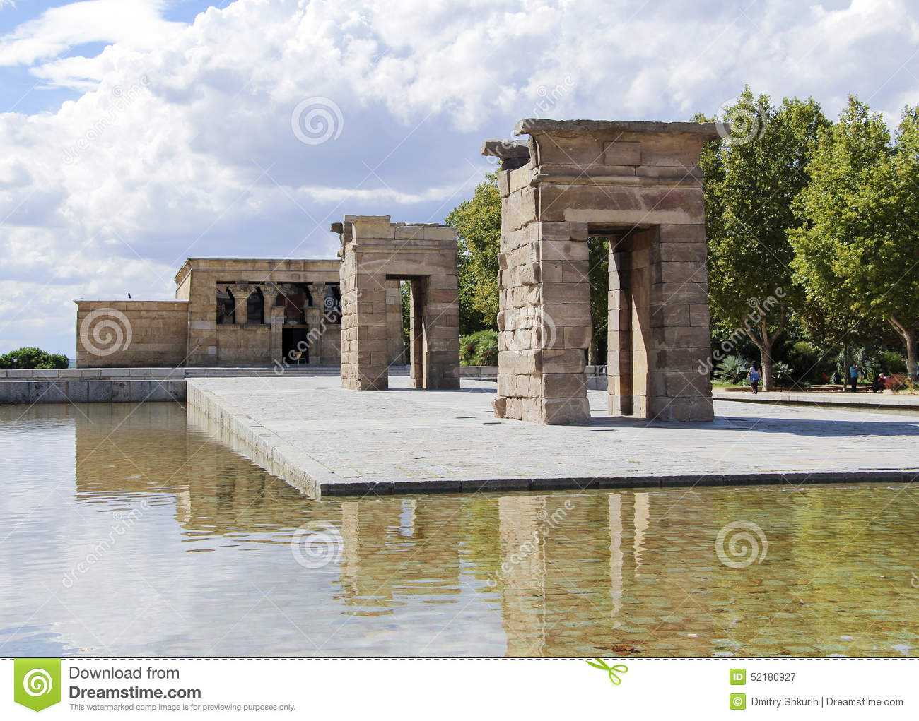 The Temple Of Debod, An Ancient Egyptian Temple Which Was Rebuilt In Madrid S...