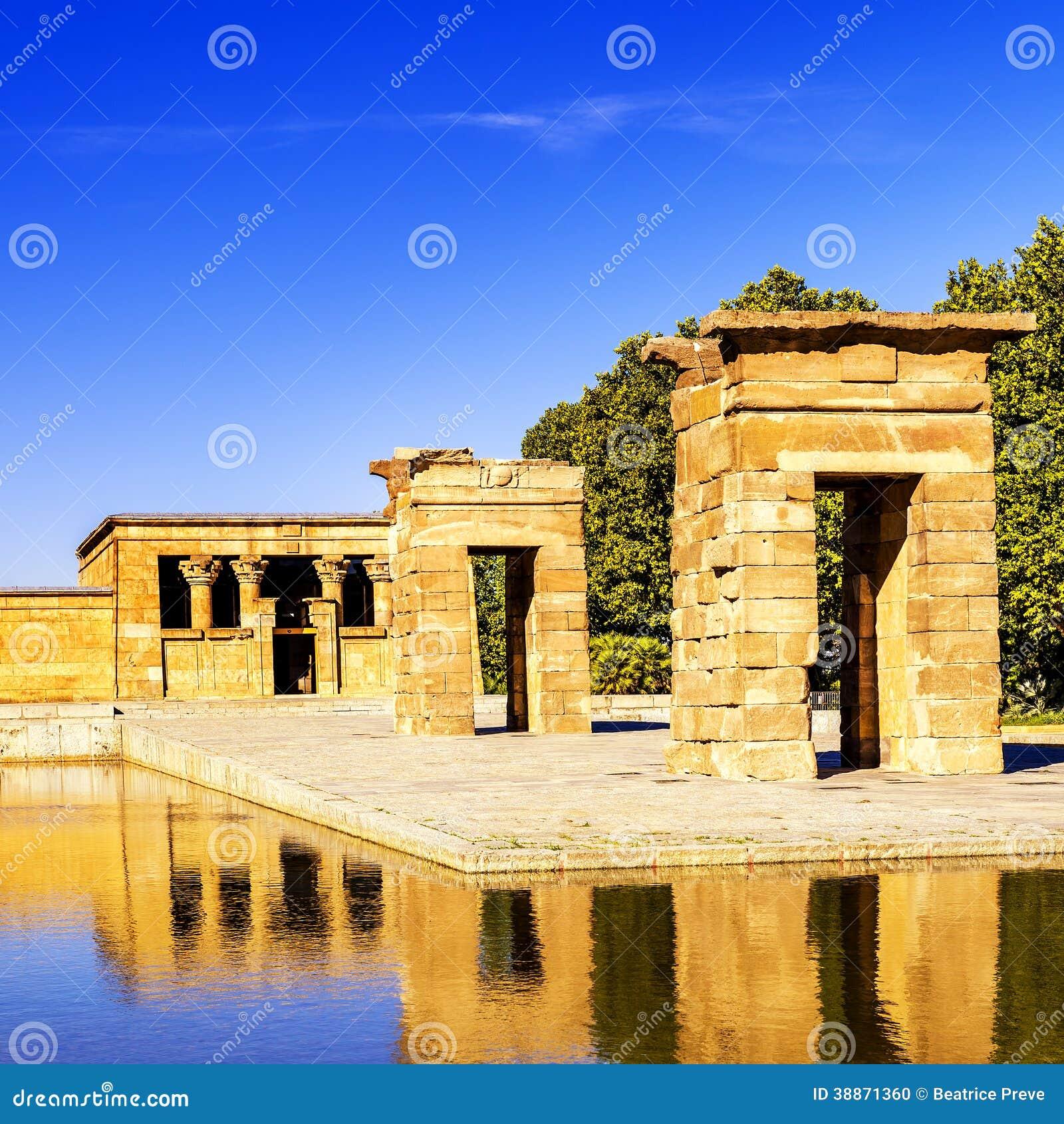 Temple Of Debod Madrid Stock Photo - Image: 38871360