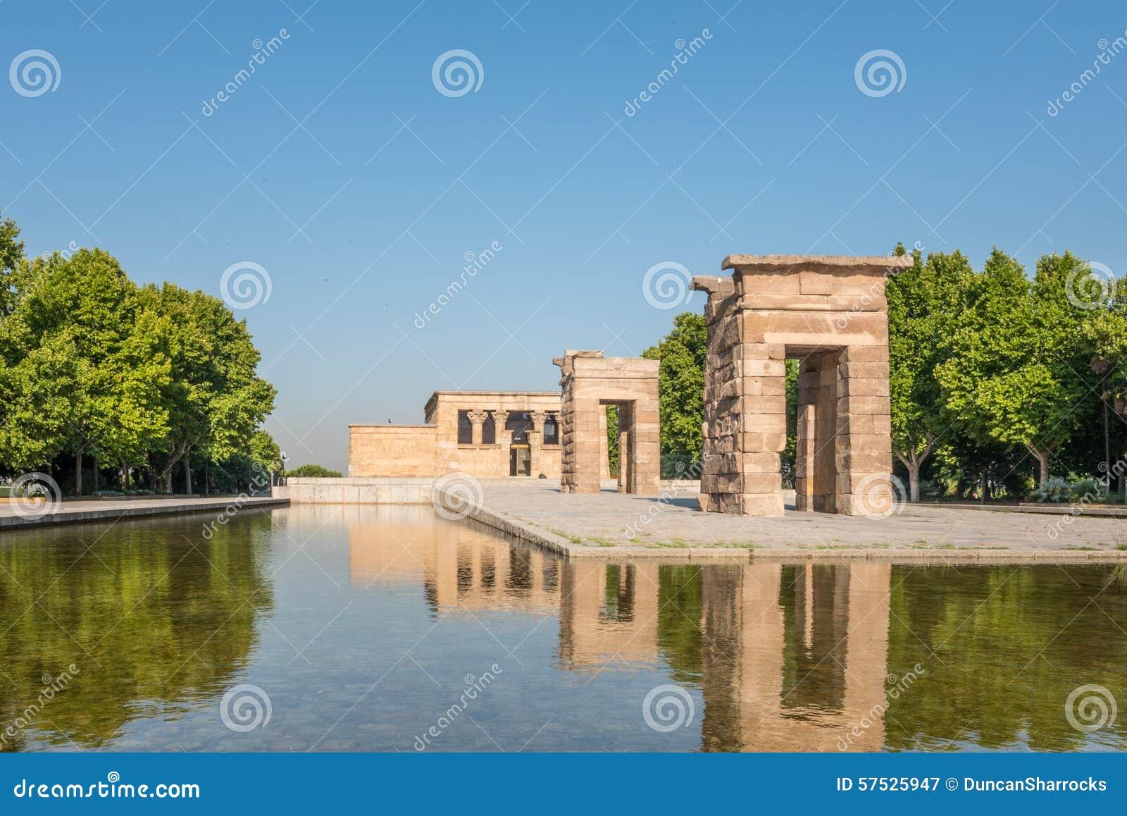 Temple Of Debod Parque Del Oeste Madrid Spain Stock