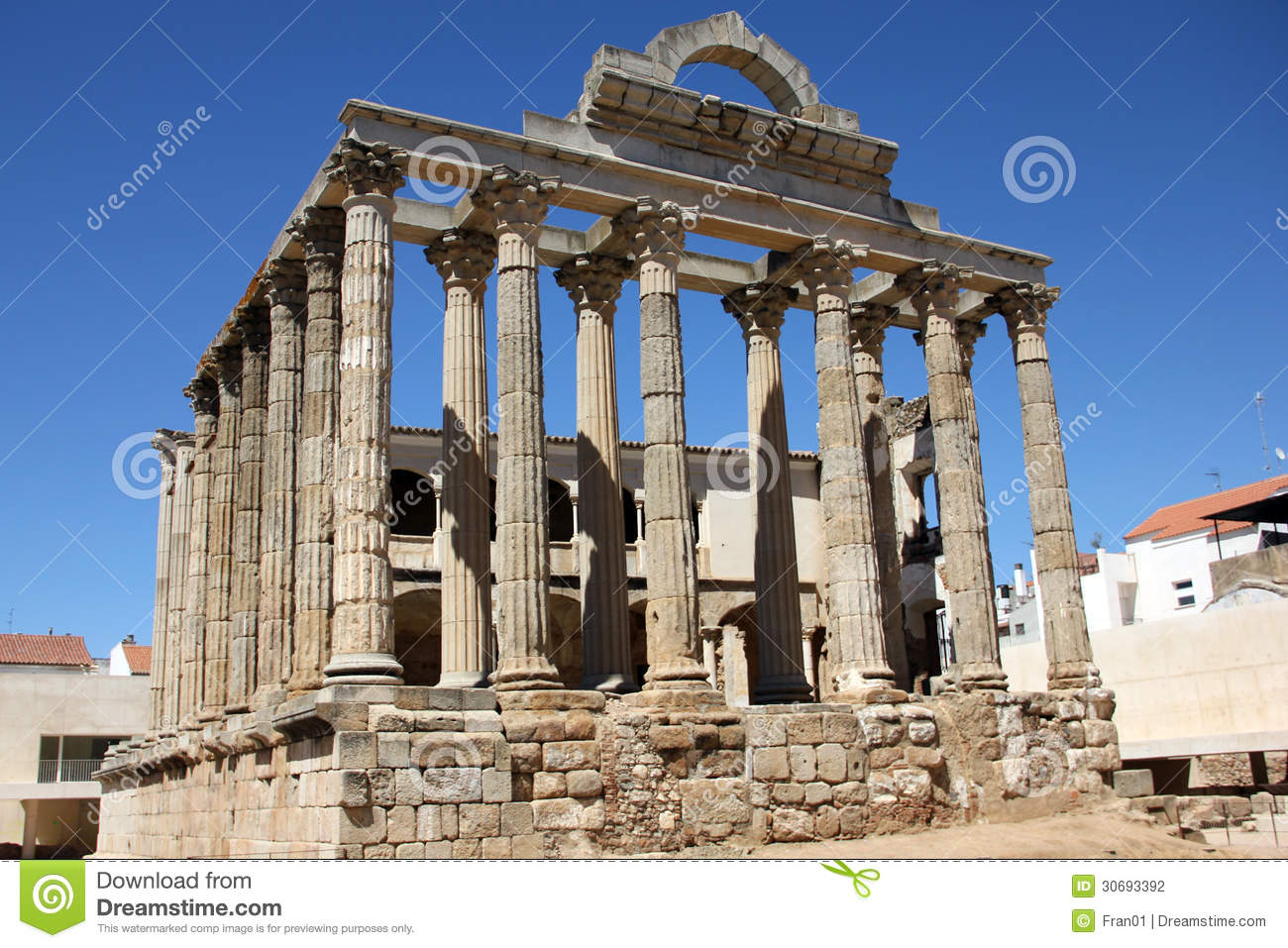Temple Of Diana Stock Photography - Image: 30693392
