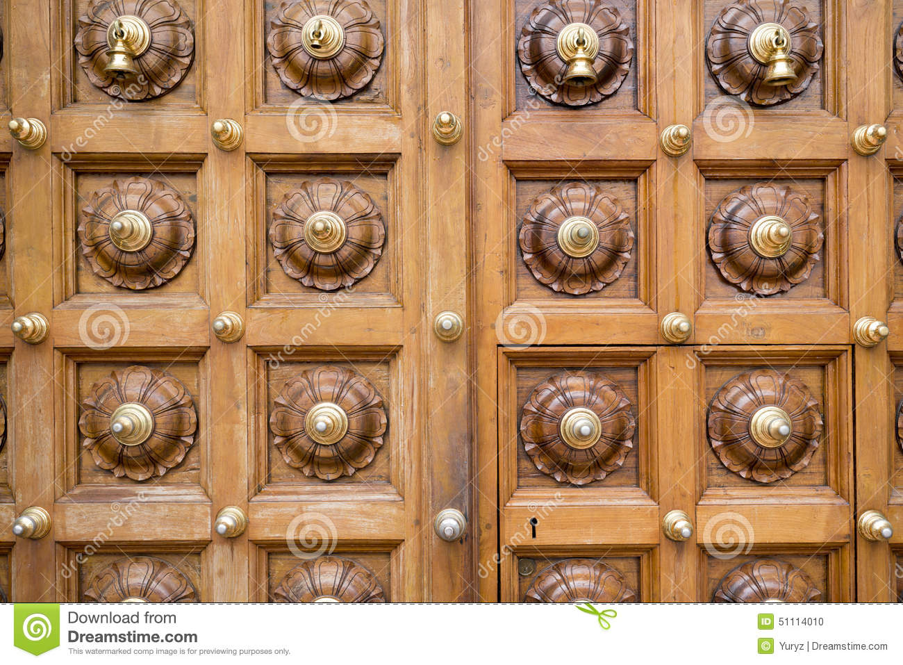 Temple door stock photo. image of decorated temple carving 51114010