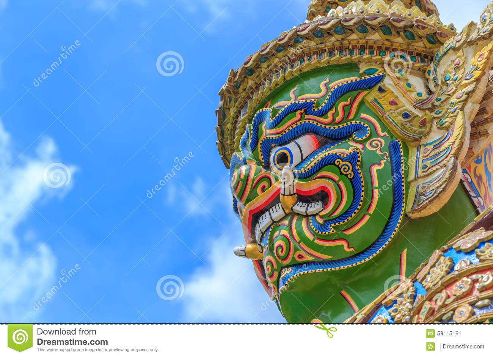 Temple of The Emerald Buddha or Wat Phra Kaew, Grand Palace, Bangkok, Thailand