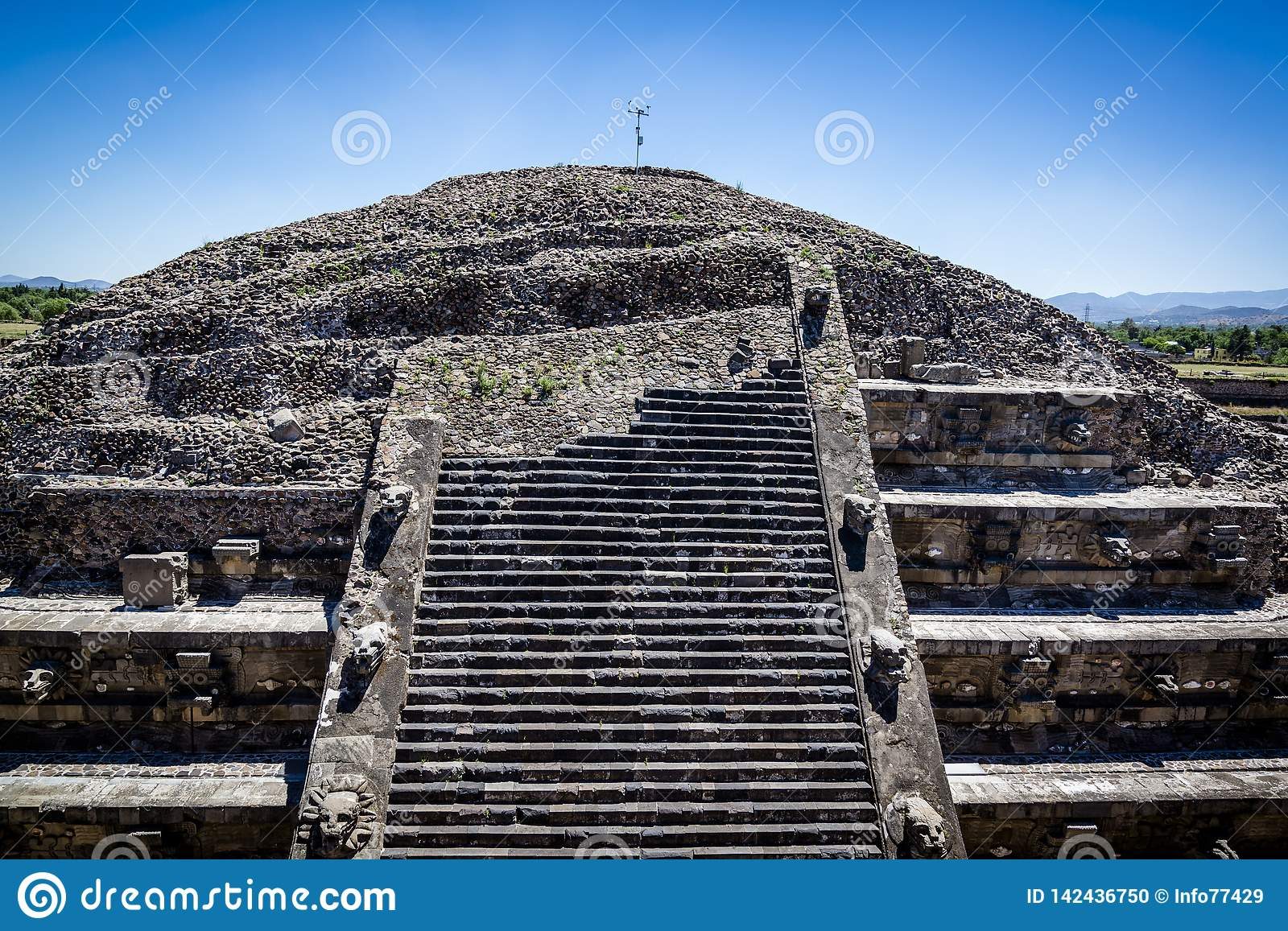 Temple of the Feathered Serpent, Teotihuacan, Mexico