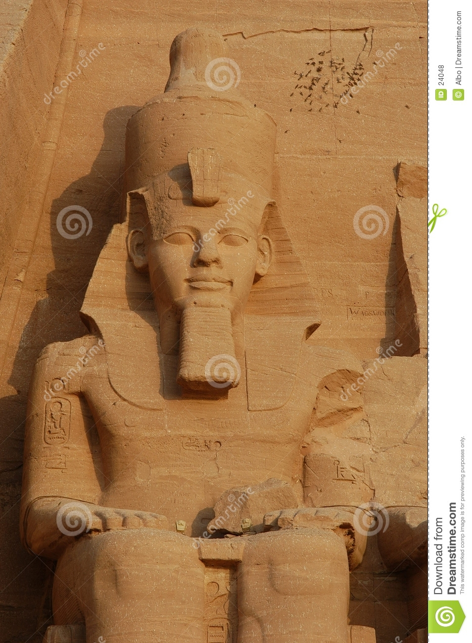 Temple grand d Abu Simbel