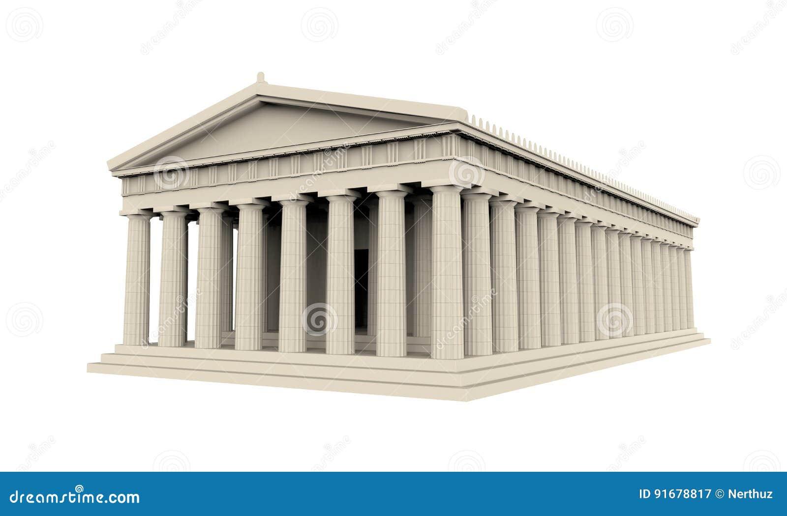 Temple grec d isolement