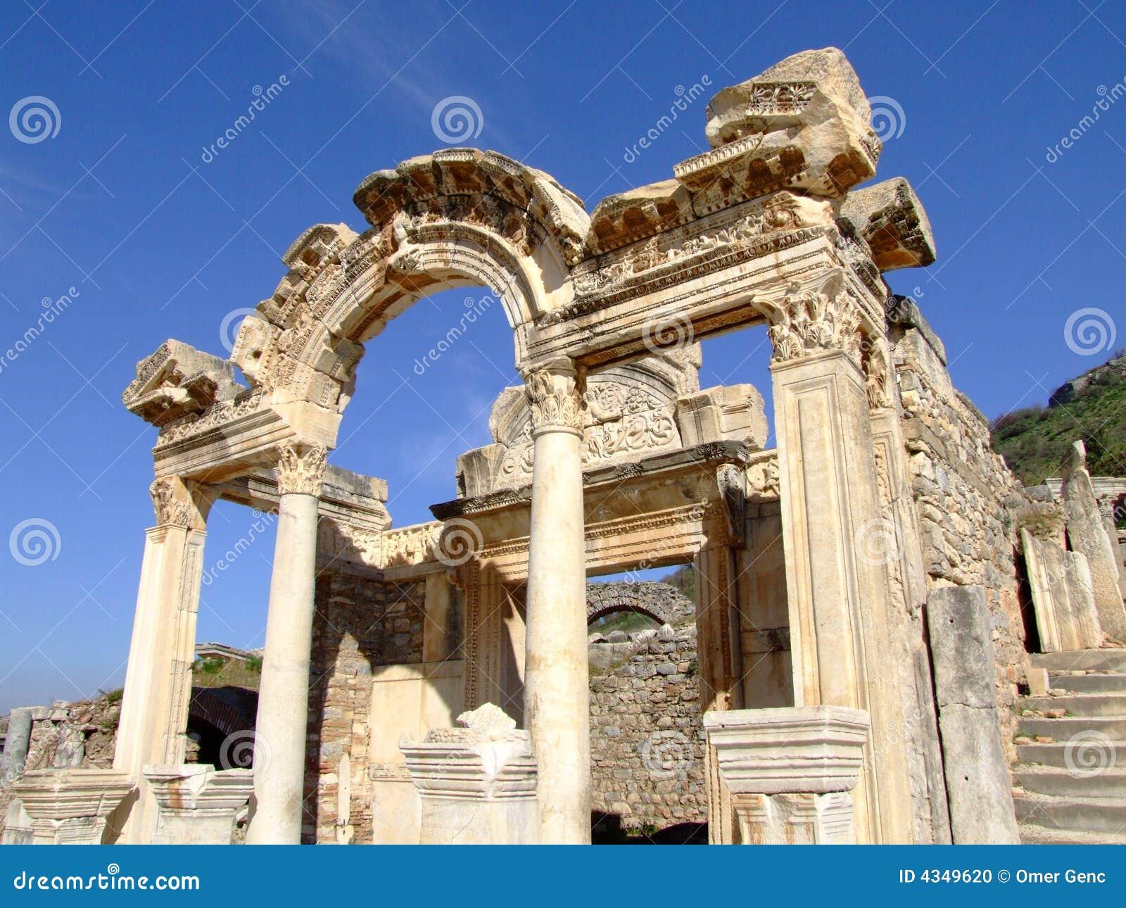 Temple Of Hadrian Stock Photo - Image: 4349620