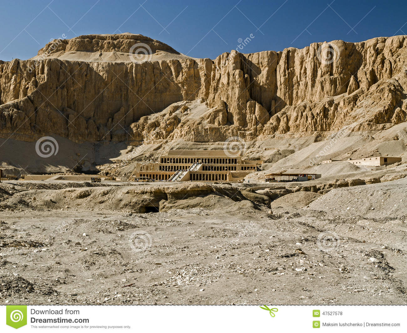 Temple Of Hatshepsut At Deir El-Bahri Stock Photo - Image ...
