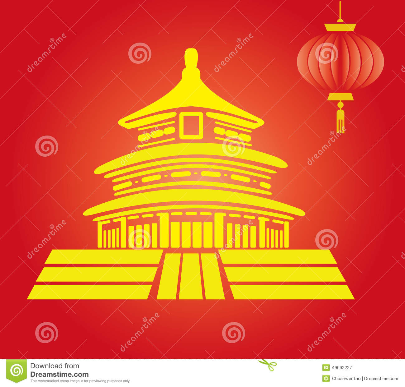 The temple of heaven in china stock vector illustration of culture the temple of heaven in china buycottarizona Gallery