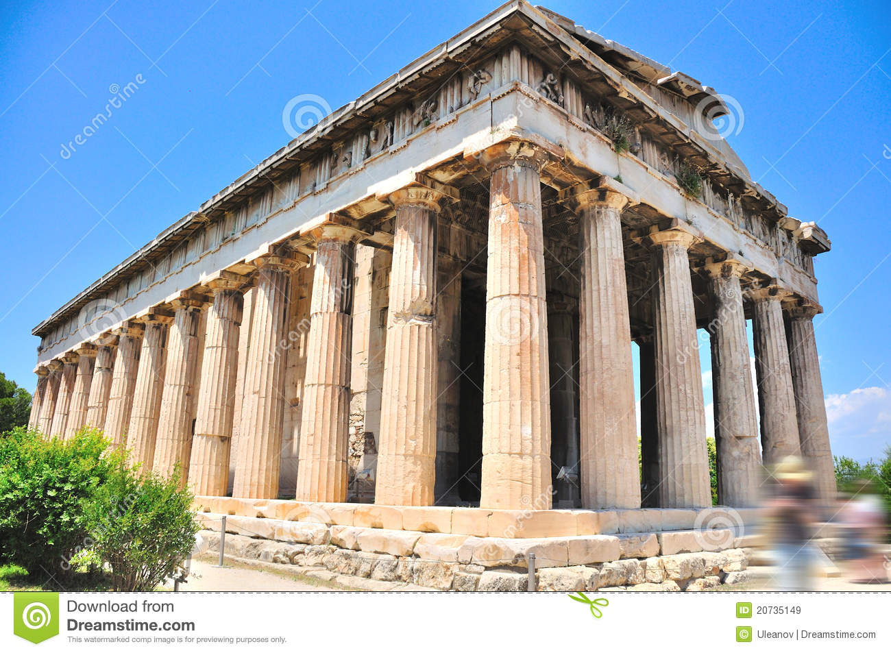 The Temple Of Hephaestus In Athens Royalty Free Stock ...